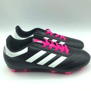 NWOT Adidas Boys Soccer Cleats Black/White/Pink